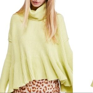 NEW LIST!! NWT FP Layer Cake Lime Green Sweater